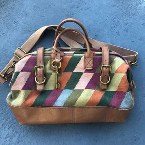 Mary Poppins Style Bag -Fossil